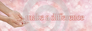 Make a difference charity campaign background