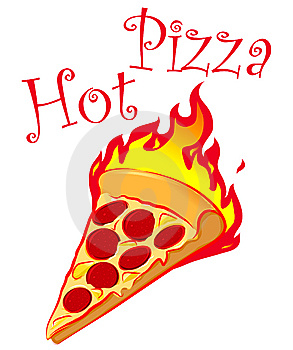 Image result for Cartoon of pizza hot