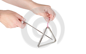 Metal triangle, music instrument