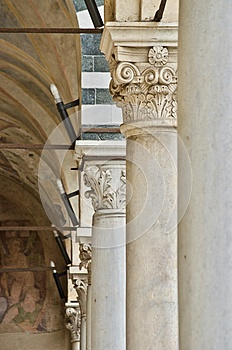 Columns and capitals in italy