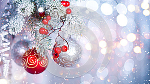 Christmas holiday abstract silver background