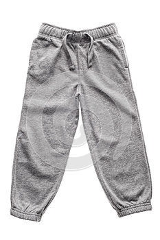 Gray sweatpants isolated