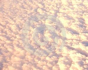 Bed of White Clouds in Sky captured from Air