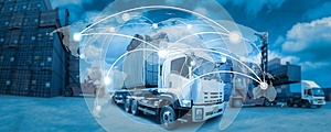 Global network coverage world map,Truck with Industrial