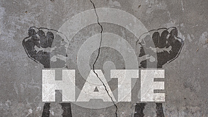 Hate Written on a Cracked Wall