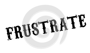 Frustrate rubber stamp