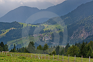 Green Alpine landscape