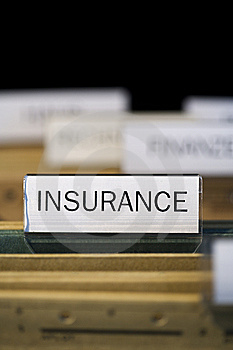 File folder labeled insurance