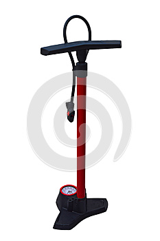 Bike Pump Isolated With PNG File Attached