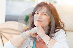 Attractive Middle Aged Woman Portrait