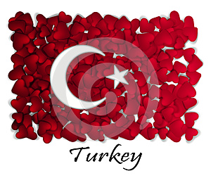 Love Turkey. Flag Heart Glossy. With love from Turkey. Made in Turkey. Turkey national independence day. Sport team flag. Ankara