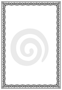 Frame with ornamental design