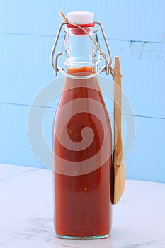 Vintage red hot sauce