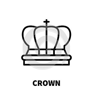 Crown icon or logo in modern line style.