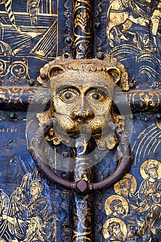 Lions` Heads on handles of the Golden Gates