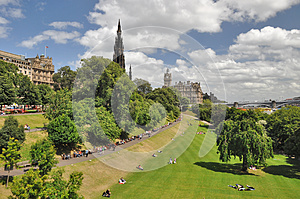 East Princess Street Gardens in Edinburgh