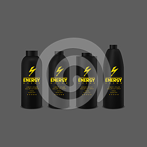 Energy drink bottle set