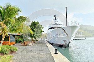 Super Yacht at the Dock / Harbor