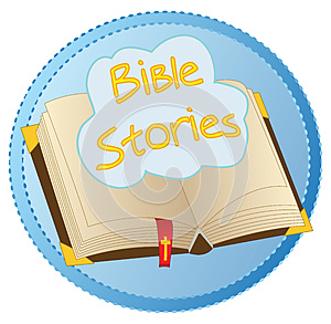Bible Stories opened book logo