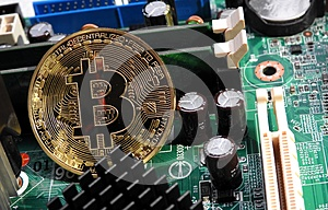Bitcoin on motherboard