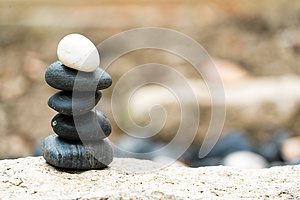 Balance stone stack, the difference always outstanding and put on top, stone, balance, rock, peaceful concept