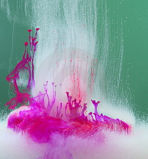 Paint Dissolving In Water