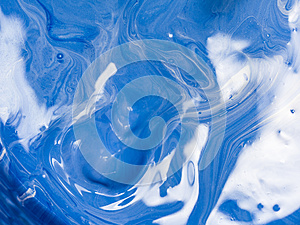 Abstract colorful of swirl and move of acrylic mixing for background