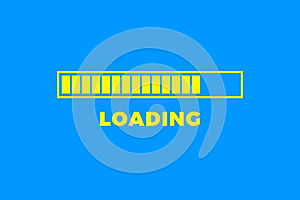 Loading icon. Progress bar icon isolated, minimal design. Vector illustrationern, vector illustration background