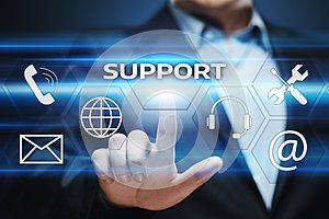 Technical Support Center Customer Service Internet Business Technology Concept