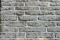 Brick Wall with Gray Bricks for Background Royalty Free Stock Image