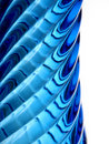 Profile of a blue glass vase Stock Photos