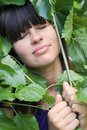 The Girl In Foliage Royalty Free Stock Photos - 1001658