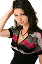 Nice Girl With Hand In Her Hair Stock Photography - 10007382