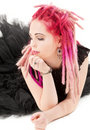 Pink Hair Girl Stock Images - 10008154