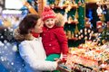 Family Shopping Christmas Presents Royalty Free Stock Images - 100059289