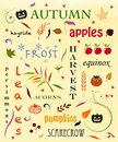 Autumn Word Cloud Royalty Free Stock Images - 100130209