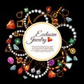 Vector Poster Of Jewelry Fashion Accessories Royalty Free Stock Photo - 100131635