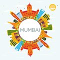 Mumbai India Skyline With Color Buildings, Blue Sky And Copy Spa Royalty Free Stock Image - 100199296