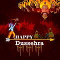 Happy Dussehra Background Showing Festival Of India Stock Images - 100266314
