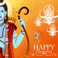 Happy Dussehra Background Showing Festival Of India Stock Photography - 100268202