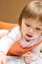 Baby Girl Drawing Stock Photos - 10037543