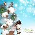 Realistic Cotton Background Royalty Free Stock Images - 100331739