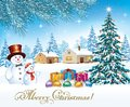 Merry Christmas. New Year Tree With Gifts Royalty Free Stock Image - 100374396