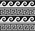 Ancient  Greek Seamless Pattern - Tradional Waves And Key Pattern Form Greece Royalty Free Stock Image - 100393936