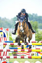 Equestrian Show Jumping Royalty Free Stock Photo - 10069875