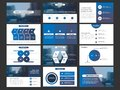 Business Presentation Infographic Elements Template Set, Annual Report Corporate Horizontal Brochure Design Royalty Free Stock Photography - 100703437