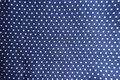 Blue Fabric With Polka Dot Print Stock Photo - 100853050