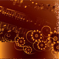 Abstract Grunge Musical Background. Vector Royalty Free Stock Photography - 10090307