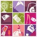 Vintage Home Appliances Icons Stock Image - 100937351