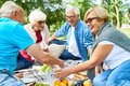Having Picnic With Friends Royalty Free Stock Image - 100947056